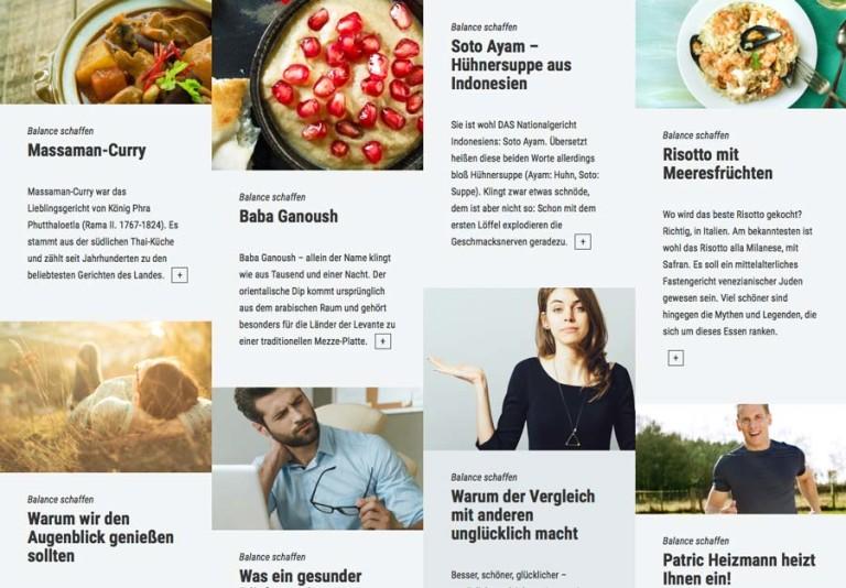 """Themenseite des DAK-Magazins """"fit"""" mit Fokus auf die Bebilderung."""