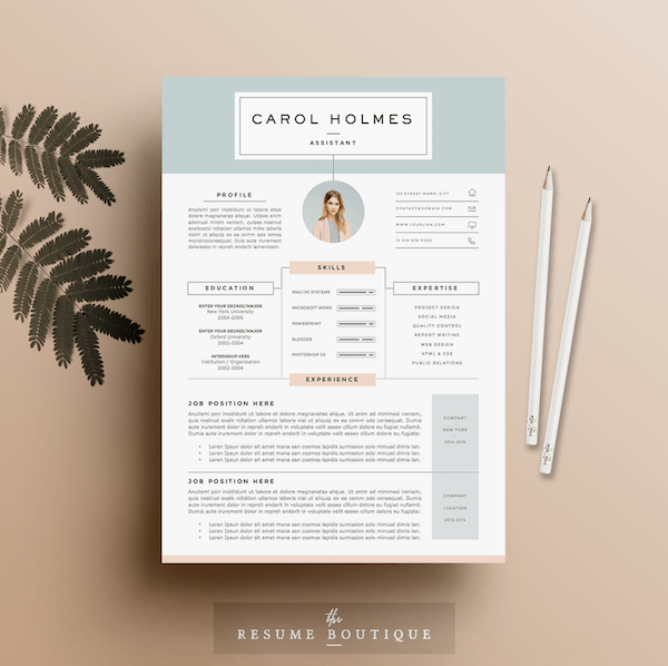 how to access resume templates on word