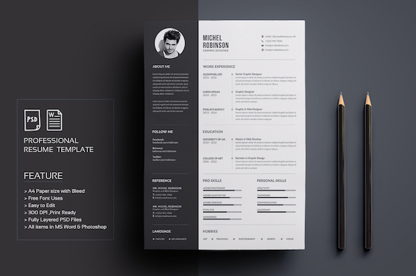 Creative Résumé Templates That You May Find Hard To Believe Are - graphic design resume template