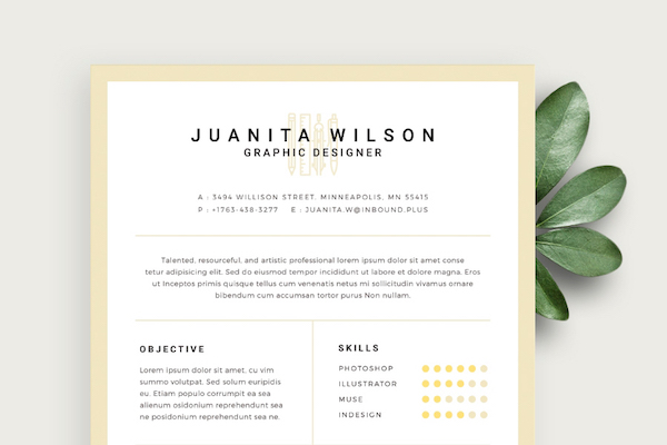 Free Eye-Catching Résumé Templates To Help You Stand Out From The