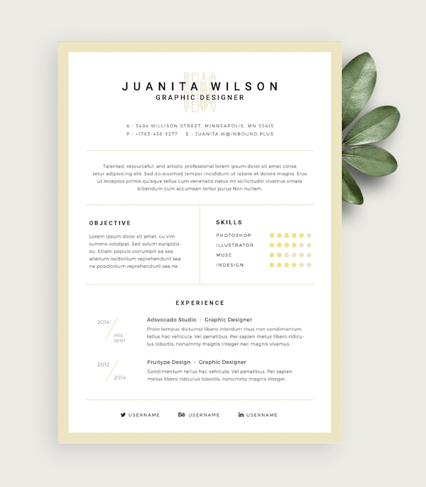 Free Eye-Catching Résumé Templates To Help You Stand Out From The - free eye catching resume templates