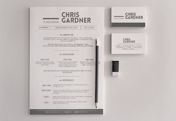 A Simple But Eye-Catching Résumé Template For Both Creatives And Non