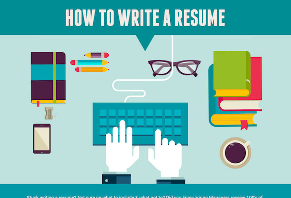 Infographic How To Write A Résumé - DesignTAXI