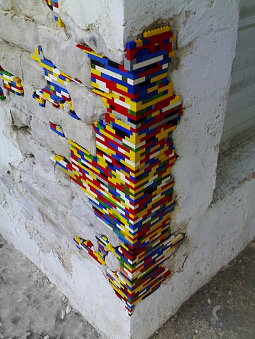 Interior Design Berlin Using Lego, Artist Restores Crumbling Architecture