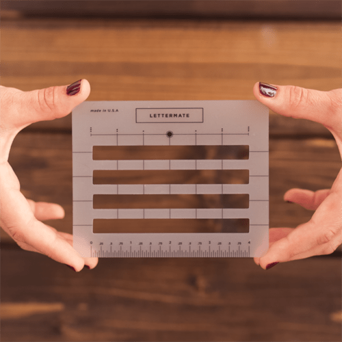 The Lettermate Simple Clever 'lettermate' Helps You Write In Straight