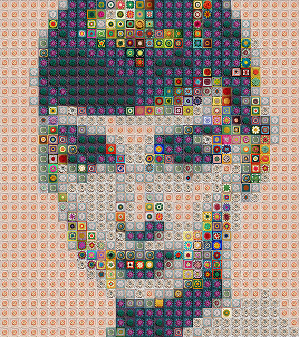 Hmhome Artist Recreates Famous Art In Mosaic Using Everyday Items