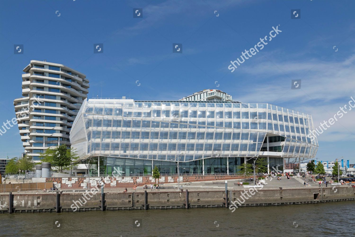 Marco Polo Tower Marco Polo Tower Unilever House Hafencity Hamburg Editorial Stock Photo - Stock Image | Shutterstock