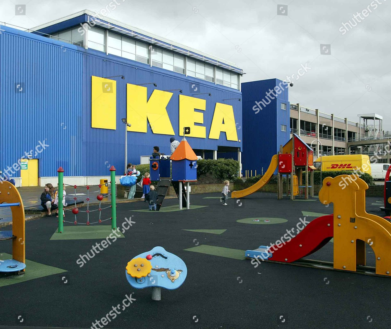 Ikea Play Area Childrens Play Area Outside Ikea Brent Cross Editorial Stock Photo