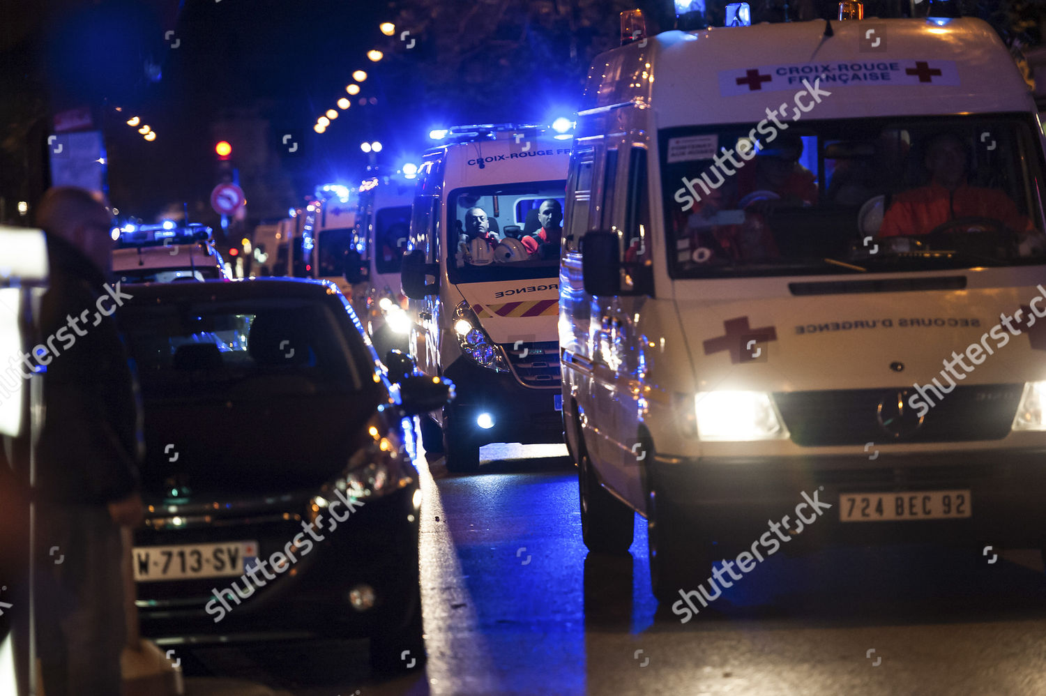 Croix Rouge Paris 13 Editorial Stock Photo Of Line Ambulances Other Emergency Services