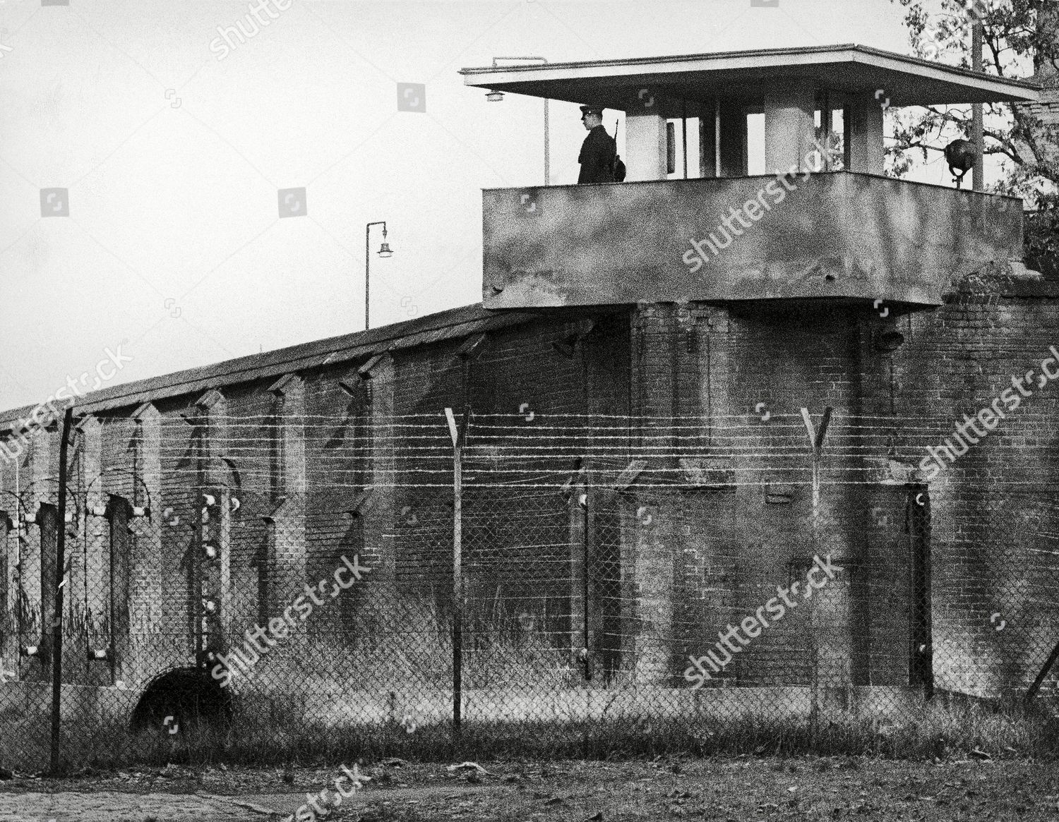 Sy Spandau Guarded Usual Soviet Soldier Stands Atop One Editorial Stock Photo