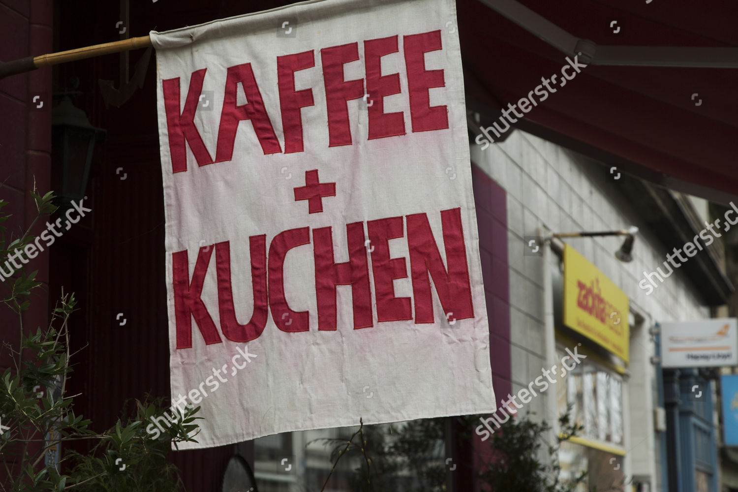 Kuchen Hamburg Flag Advertising Kaffee Und Kuchen Coffee Cake Stock Photo