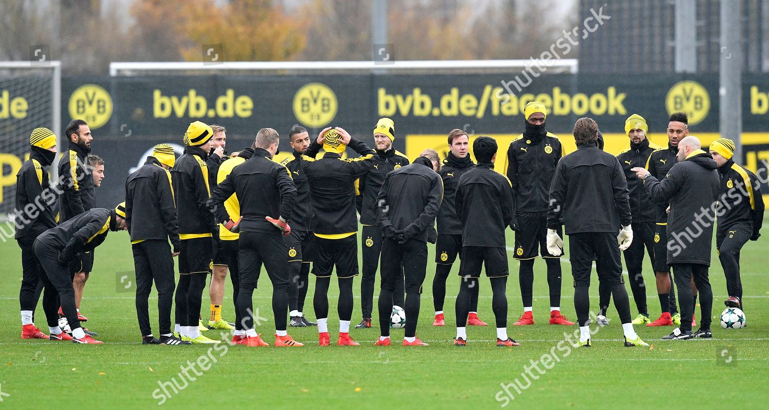 Facebook Dortmund Dortmund Head Coach Peter Bosz Talks His Editorial Stock Photo