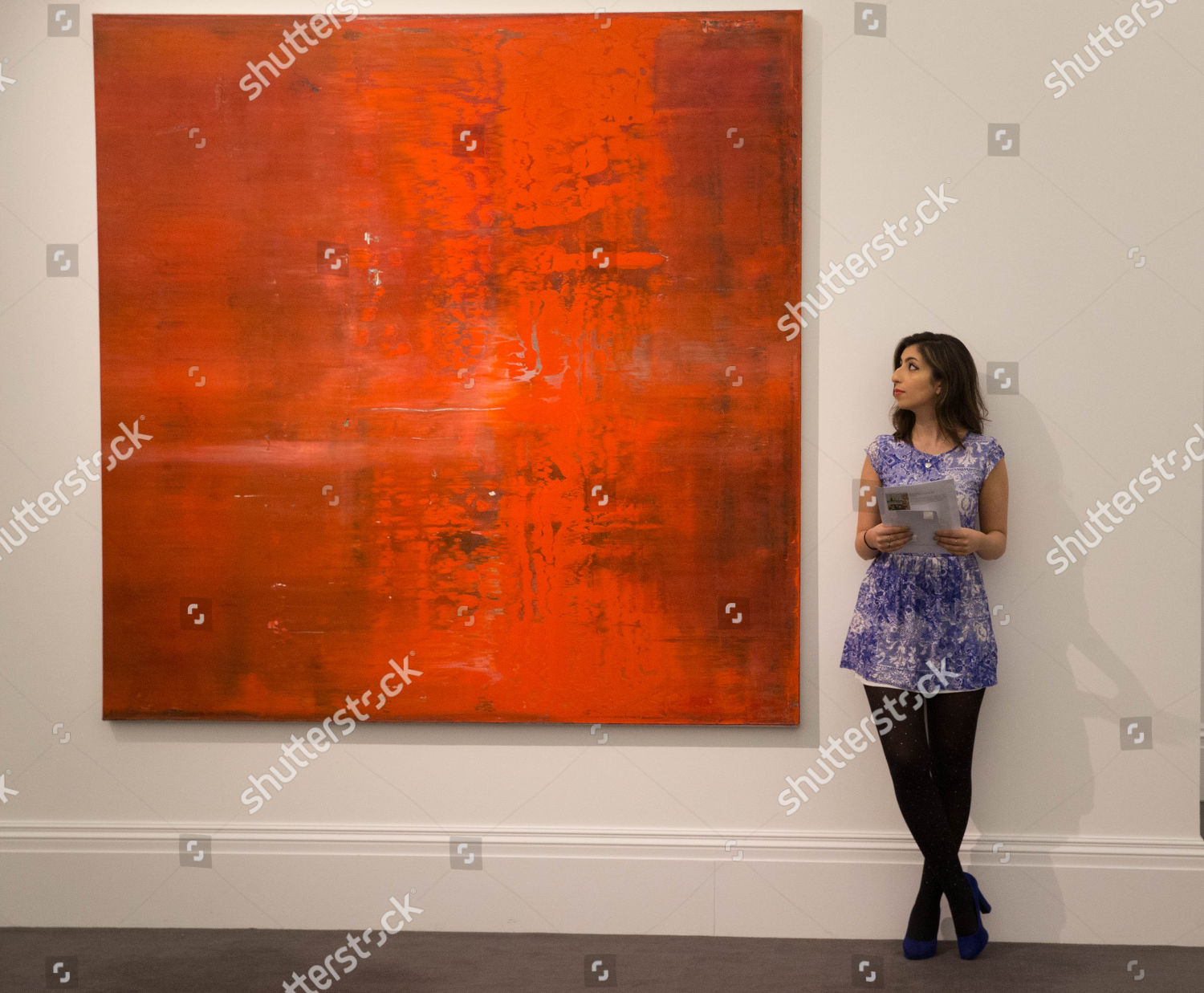 Abstraktes Bild By Gerhard Richter Valued 1520 Editorial Stock Photo Stock Image Shutterstock