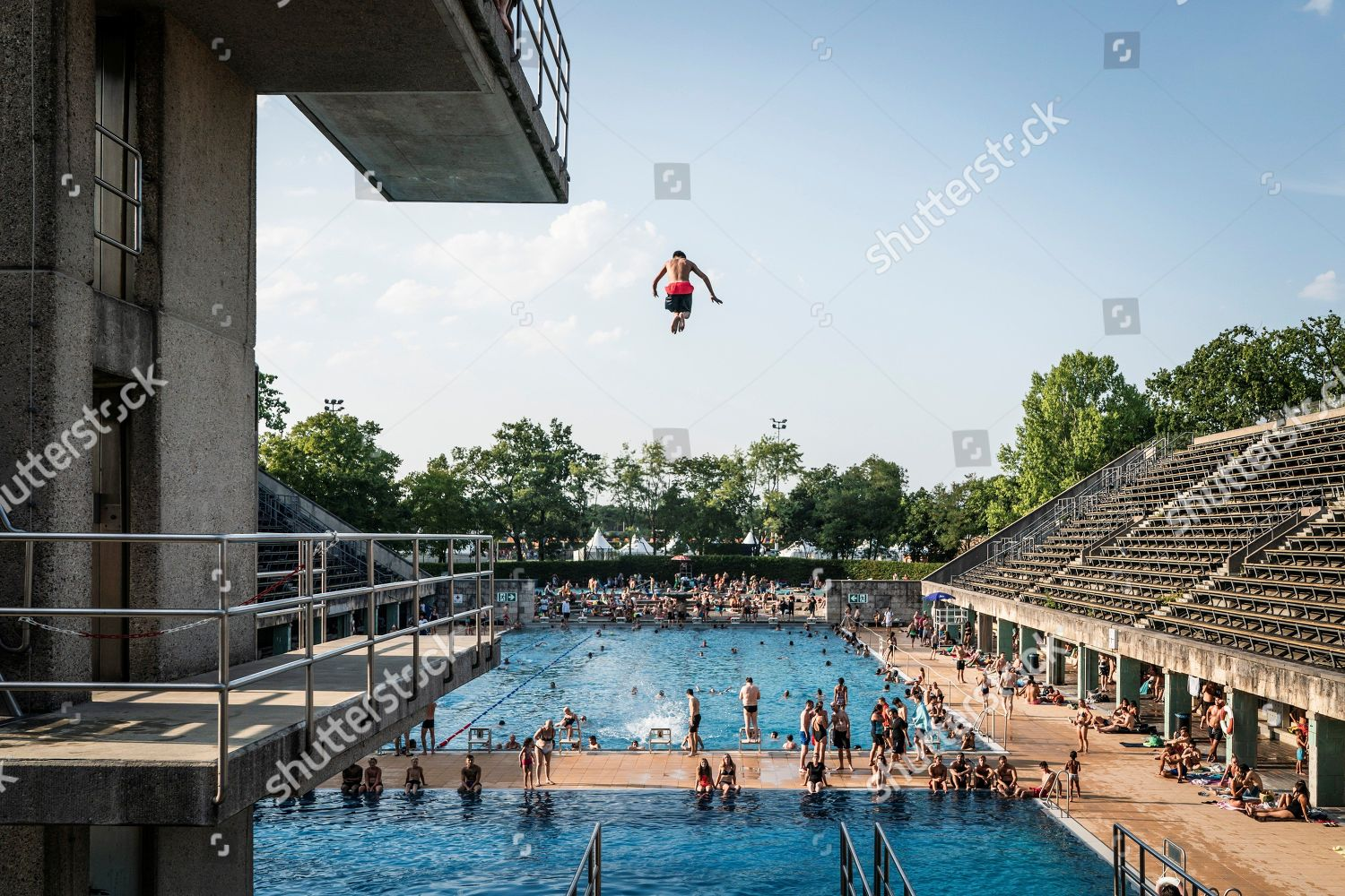 Swimming Pools In Berlin Swimming Pool Olympiapark During European Championships 2018