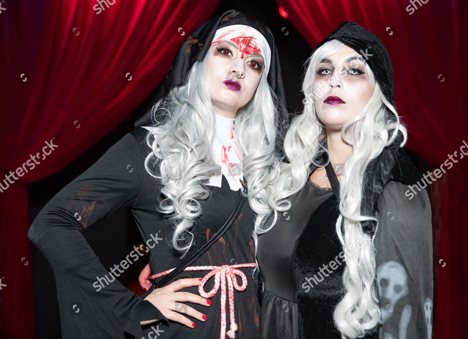 Berlin Gothic People Costume Attend Halloween Party Kulturbrauerei Berlin