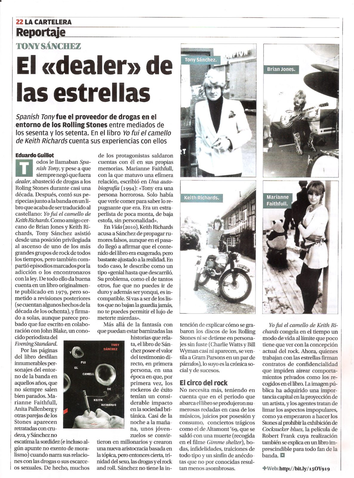 Libro De Keith Richards Prensa De Yo Fui El Camello De Keith Richards