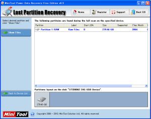 復元ファイルのプレビュー