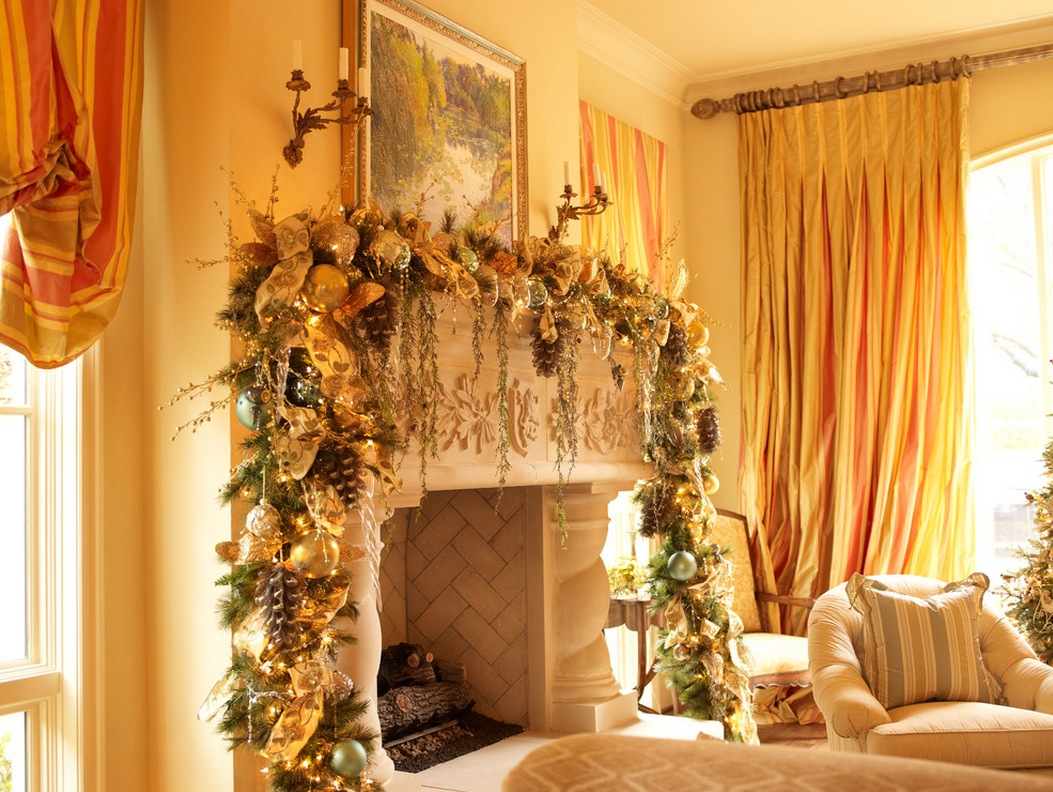 Decorations For Fireplaces 50 Most Beautiful Christmas Fireplace Decorating Ideas Beautiful