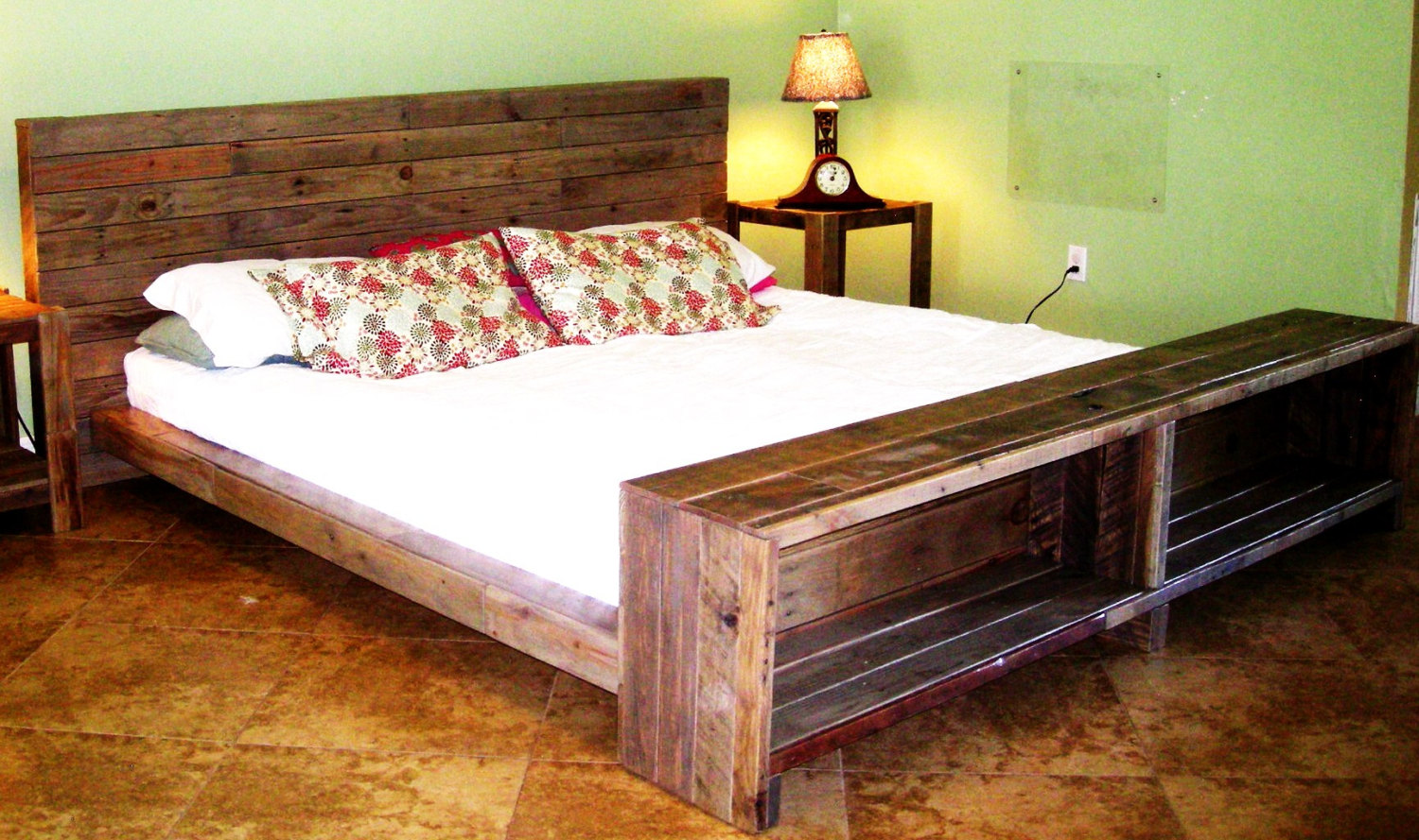 Pallet Bed With Lights pallet bed with lights and drawers 99 pallets