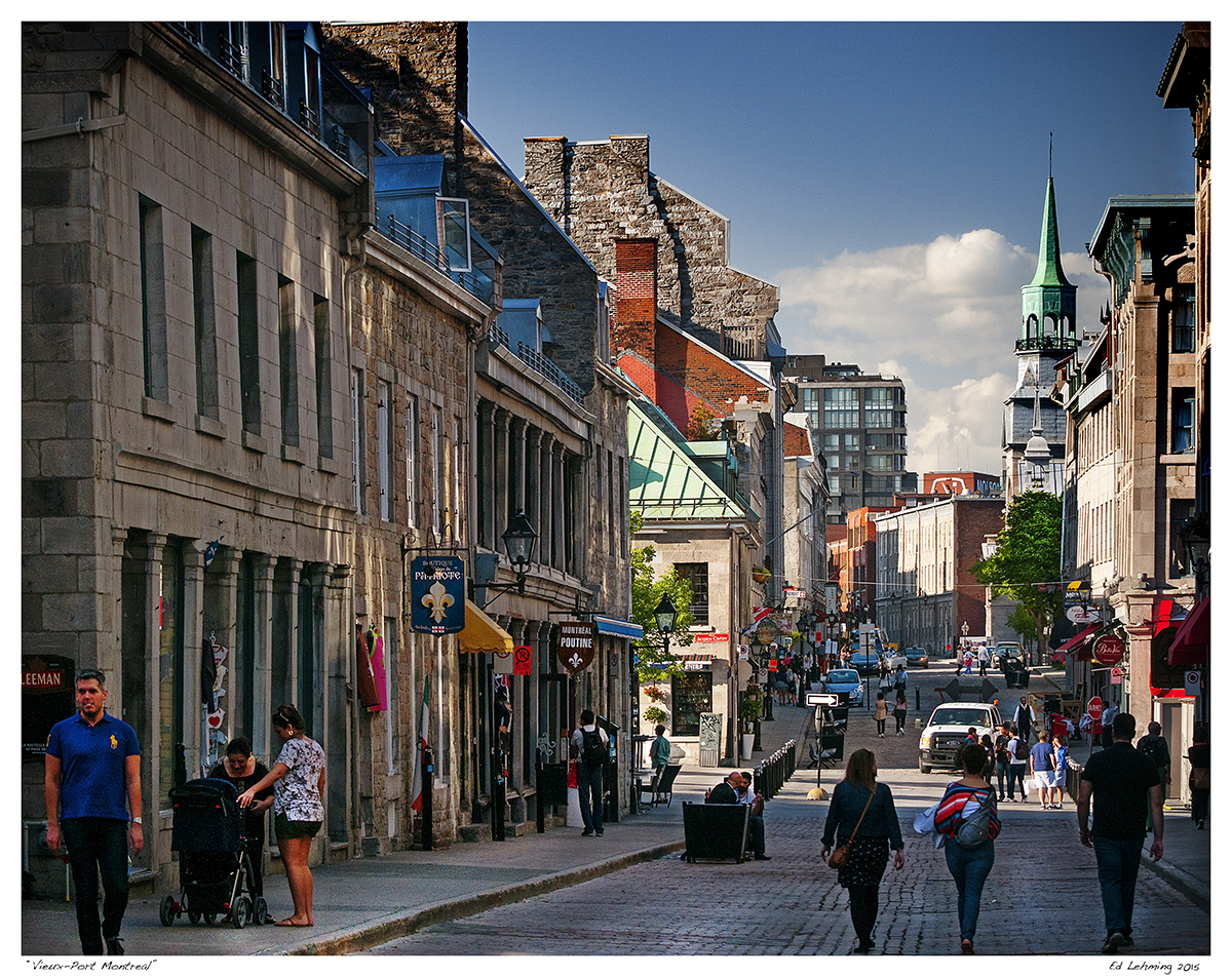 Old Montreal Warm Spring Day In Vieux Montreal Ed Lehming Photography