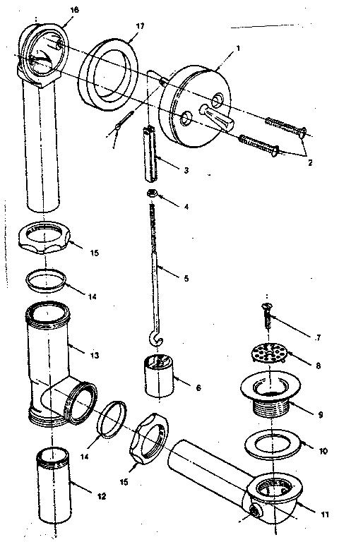 plumbing diagram of a bathtub shower