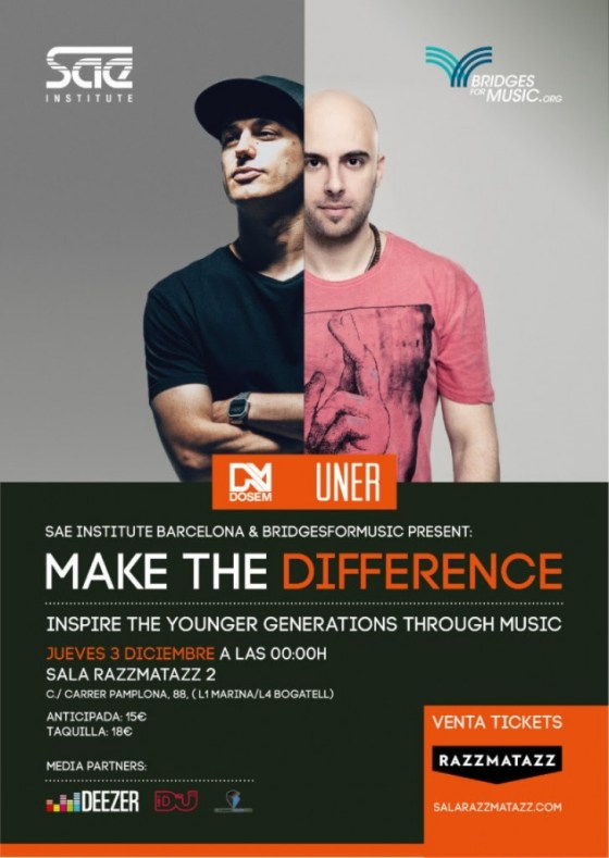 Bridgets-for-music-EDMred-727x1024 Make the Difference con DOSEM y UNER