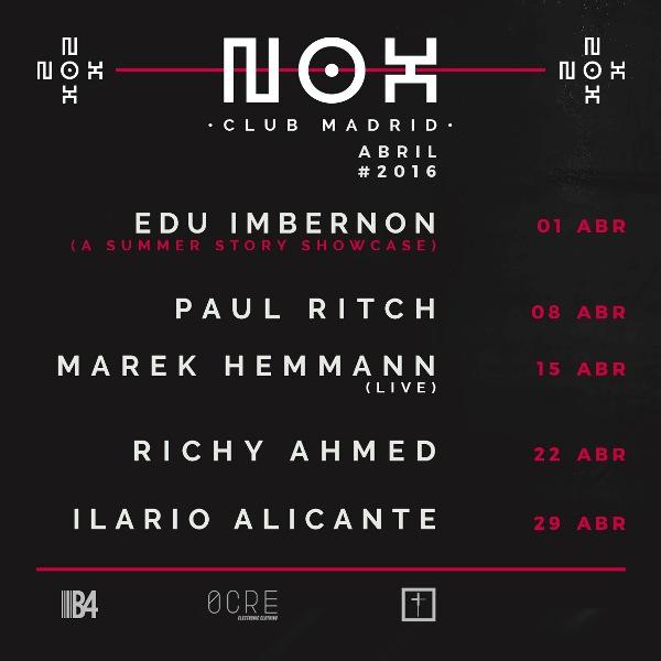 Nox club madrid abril EDMred