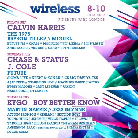 Wireless Line Up EDMred