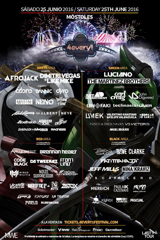cartel completo 4EVERY1 EDMred