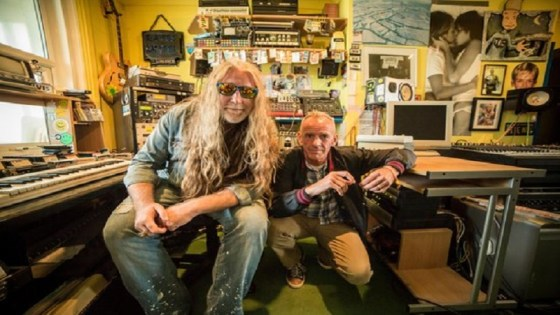 After The Raves - Brighton U.K. - Tommie Sunshine and Fatboy Slim at home in Fatboy Slim's studio.