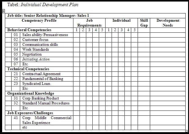 personal development plan template word - personal development portfolio example