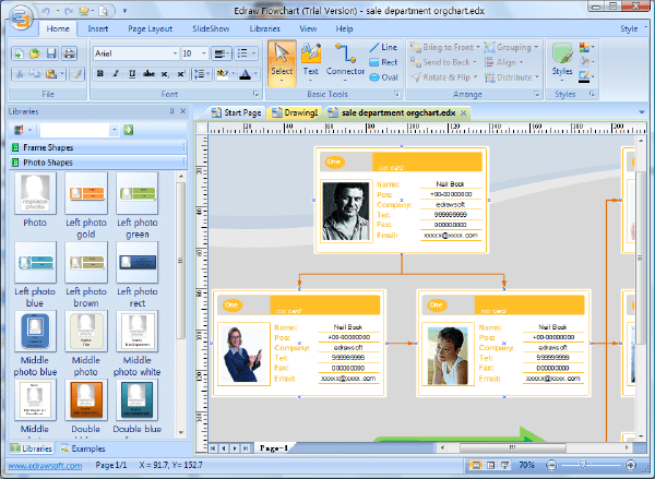microsoft word organisation chart