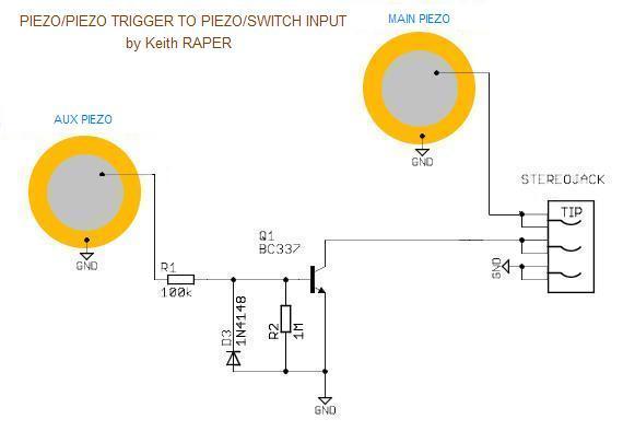 Topic DESIGN Piezo-Piezo to Piezo-Switch Adaptor (by Keith Raper
