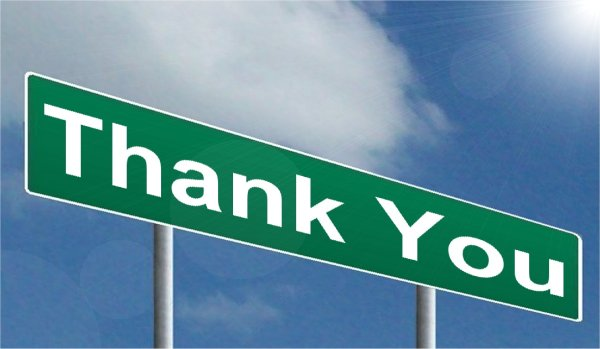 Thank you sign CC BY-SA 3.0 NY