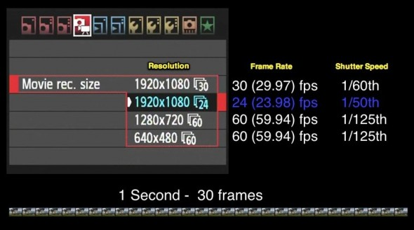 An intro to digital frame rates and shutter speeds