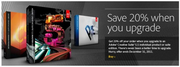 Adobe CS5 20% discount code
