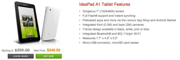 Lenovo IdeaPad A1 Features