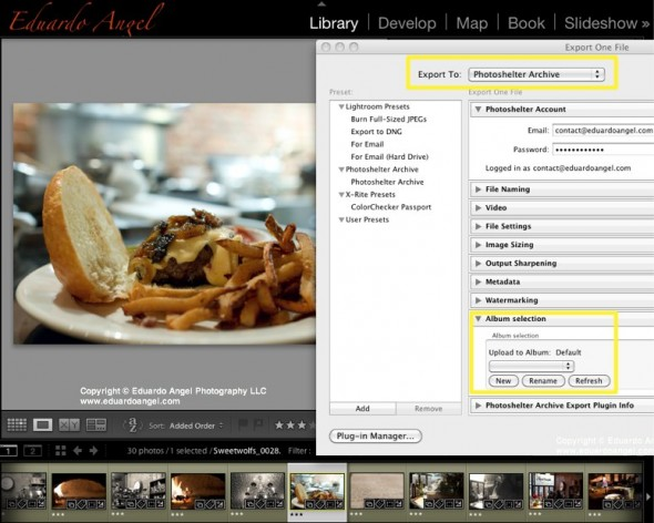 Adobe Lightroom 4 Photoshelter