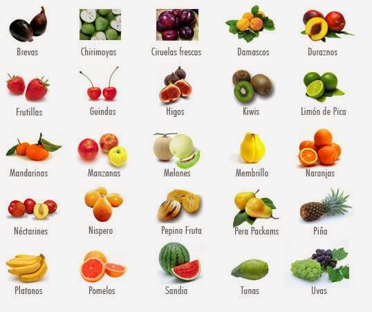 Im genes de todas las frutas con sus nombres educanimando - Verduras lista de nombres ...