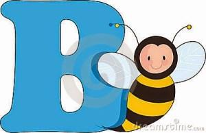 letra-b-con-una-abeja