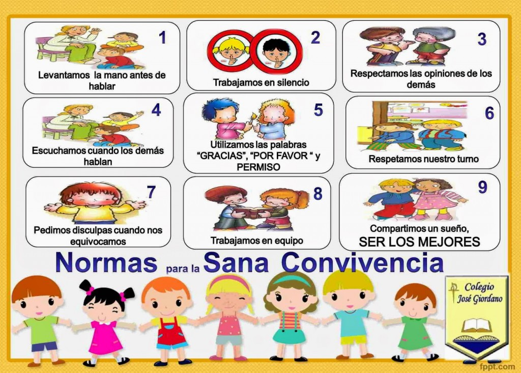 Normas de convivencia en el aula + imágenes para imprimir