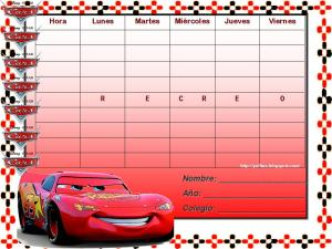 horario escolar card