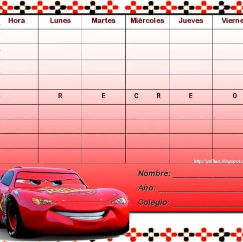 horario escolar card