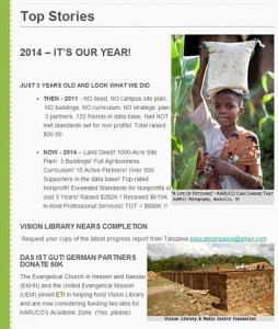ETI Newsletter Example