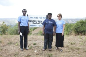 The leaders of the ELCT and ETI: Rev. Dr. Brighton Katabaro, KARUCO Coordinator; Rev. Dr. Benson Bagonza, Bishop ELCT, KARUCO Founder; Dr. Jan B. Hansen, President/CEO, Educate Tanzania