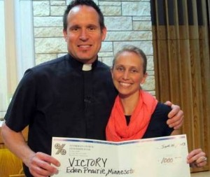Pastor Prigge and Becky McCathie, Victory Lutheran Church