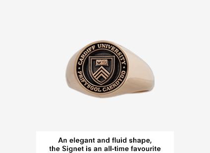 Signet Medium, Gold Cardiff University Graduation Ring