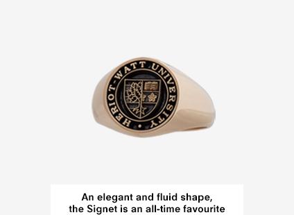 Signet Medium, Gold Heriot-Watt University Graduation Ring