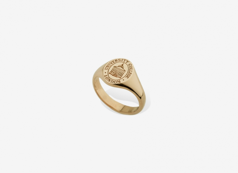 Sebald Seal Small Ring, Sterling Silver University College London