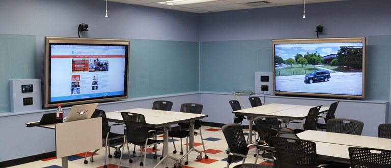 New technology-enhanced classroom provides collaborative space for
